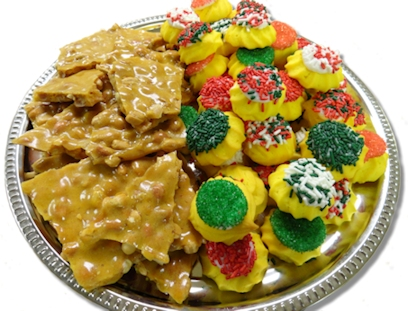 Peanut Brittle and Butter Cookies